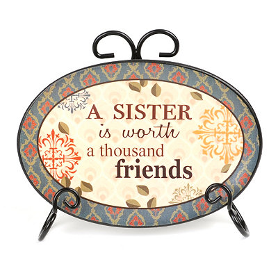 A Sister's Worth Sentiment Plate