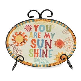 You Are My Sunshine Sentiment Plate