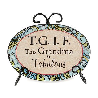 Fabulous Grandma Sentiment Plate