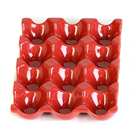 Red Ceramic Egg Crate