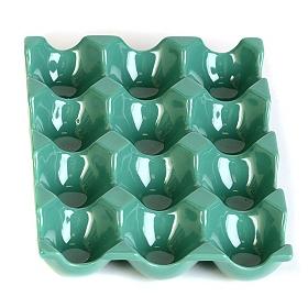 Turquoise Ceramic Egg Crate