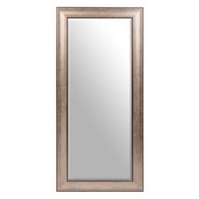 Antique Silver Framed Mirror, 21x45