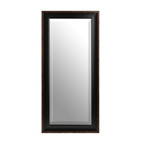 Black Satin Framed Mirror, 21x45