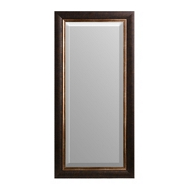 Bronze Border Framed Mirror, 21x45