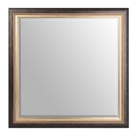 Oxidized Silver Framed Mirror, 43x43