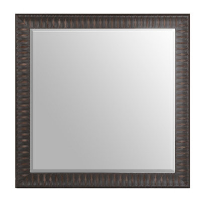Ribbed Bronze Framed Mirror, 43x43