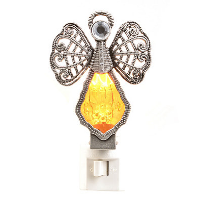 Amber Crystal Angel Night Light