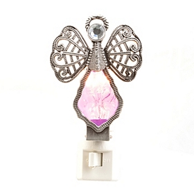 Amethyst Crystal Angel Night Light