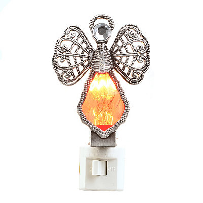 Ruby Crystal Angel Night Light