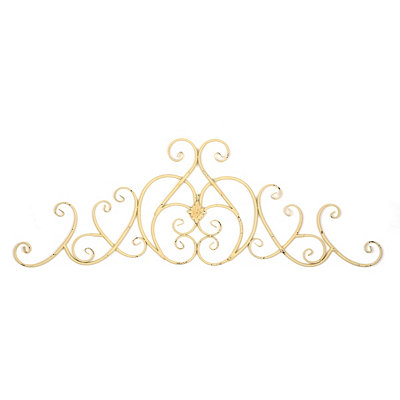 Cream Clara Metal Wall Plaque