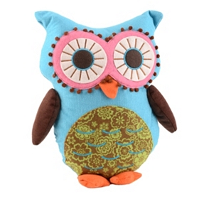 Blue Owl Pillow