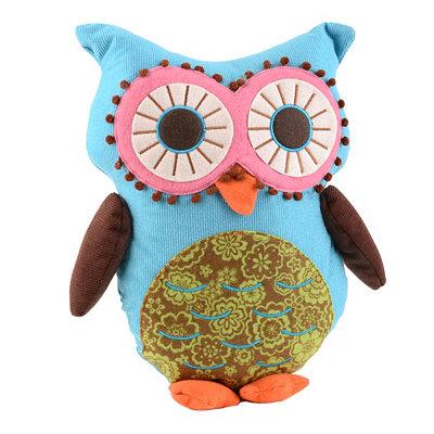 Blue Owl Pillow