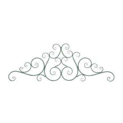 Turquoise Bridgette Metal Plaque