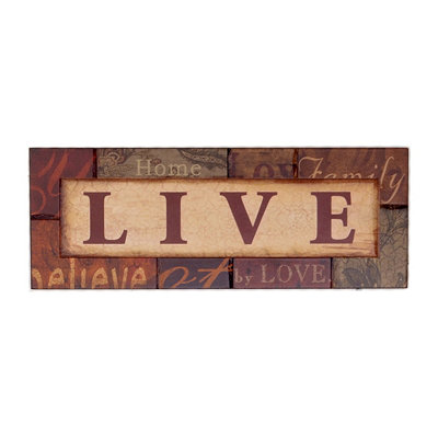 Spice Live Wall Plaque