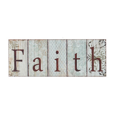 Blue Faith Wall Plaque