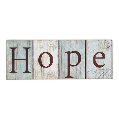 Blue Hope Wall Plaque