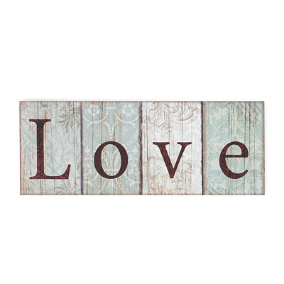 Blue Love Wall Plaque