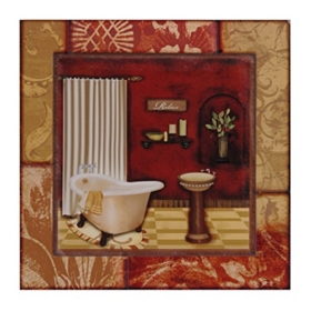 Luxe Bath II Etched Wall Plaque