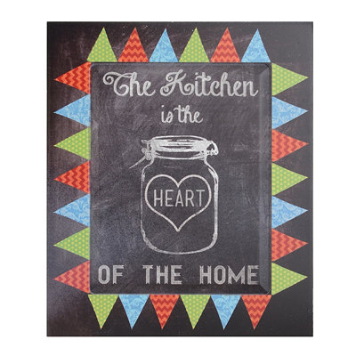 The Kitchen Is The Heart Wall Plaque