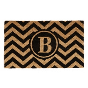 Chevron Monogram B Doormat