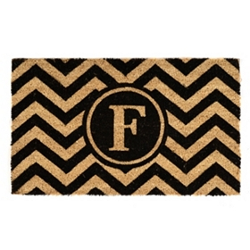Chevron Monogram F Doormat