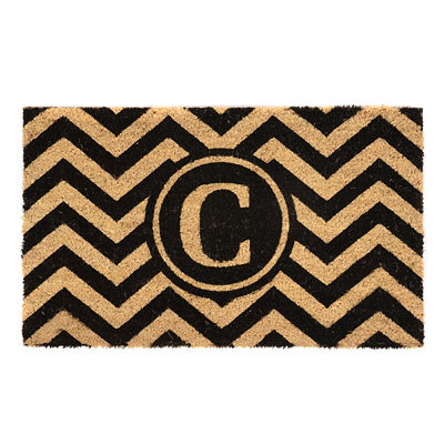 Chevron Monogram C Doormat
