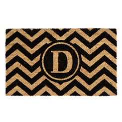 Chevron Monogram D Doormat