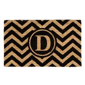 Chevron Monogram D Doormat