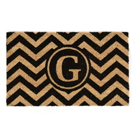 Chevron Monogram G Doormat
