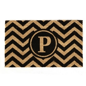 Chevron Monogram P Doormat