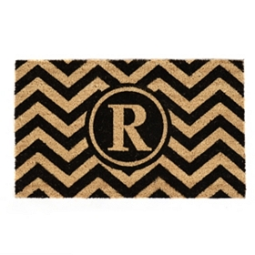 Chevron Monogram R Doormat