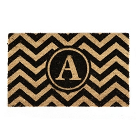 Chevron Monogram A Doormat