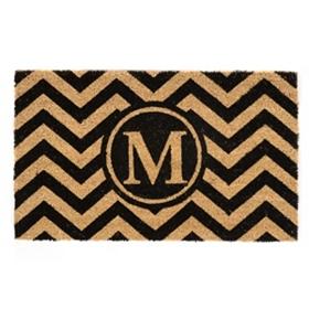 Chevron Monogram M Doormat