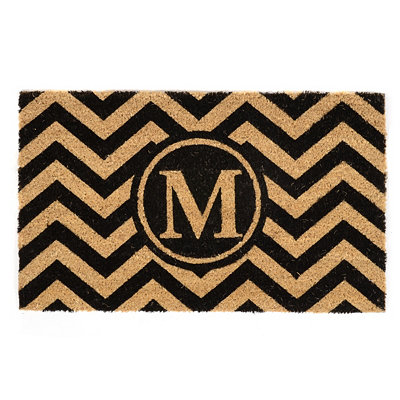 Chevron M Monogram Doormat