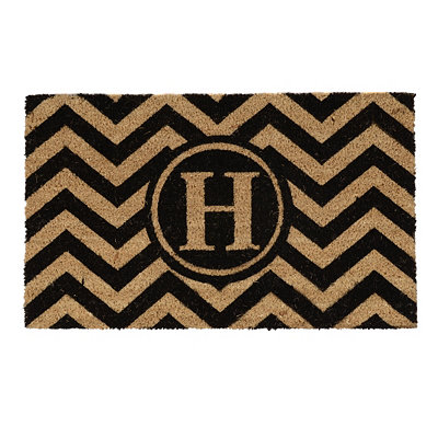 Chevron Monogram H Doormat