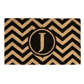 Chevron Monogram J Doormat