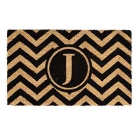 Chevron Monogram J Doormat