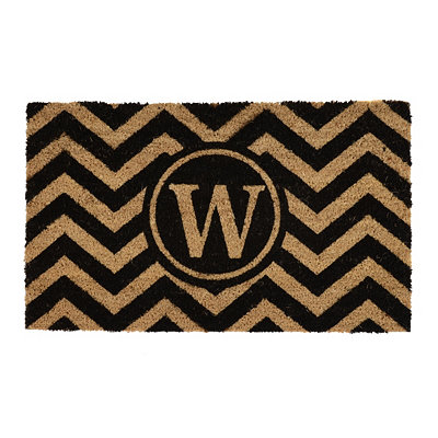 Chevron Monogram W Doormat