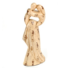 Cream Bridal Couple Statue