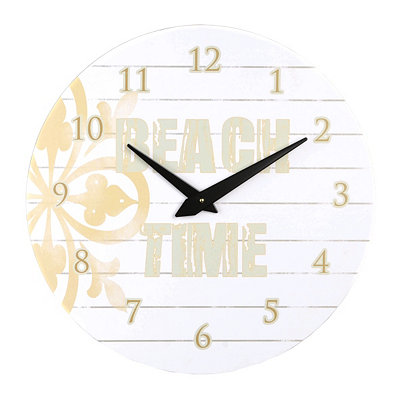White Wooden Beach Time Clock