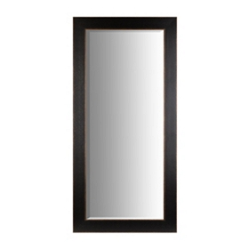 Textured Distressed Black Framed Mirror