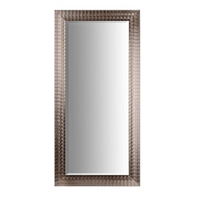Silver Blocks Framed Mirror, 31x65