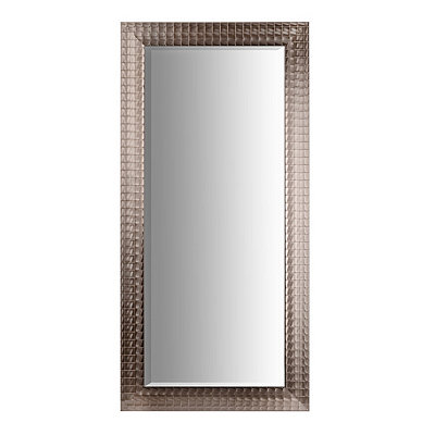 Silver Blocks Framed Mirror, 31x65 in.