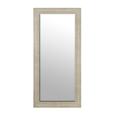 weathered natural framed mirror 32x66 in