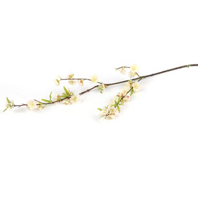 Cream Cherry Blossom Spray, 39 in.