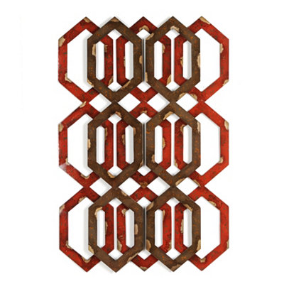 Two-Toned Honeycomb Metal Art