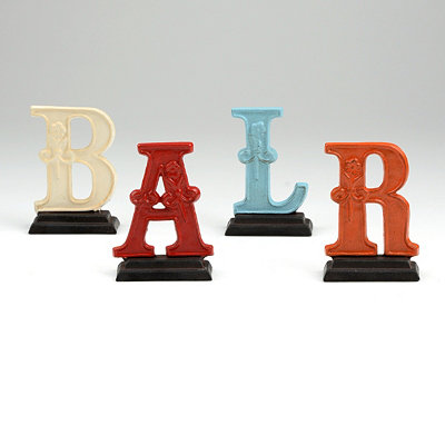 Monogram Cast Iron Statues