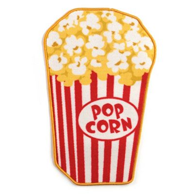 Movie Popcorn Accent Rug