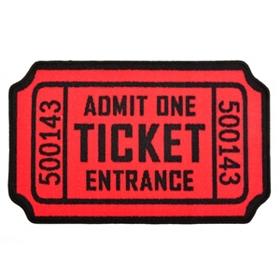 Movie Ticket Accent Rug