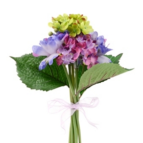 Blue Peony and Hydrangea Bouquet, 11 in.